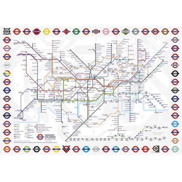 Gibsons London Underground 500 Piece Jigsaw Puzzle 1