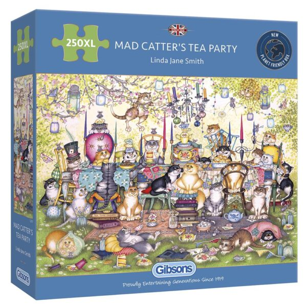 Gibsons Mad Catter's Tea Party 250 XL Jigsaw