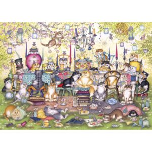 Gibsons Mad Catter's Tea Party Jigsaw