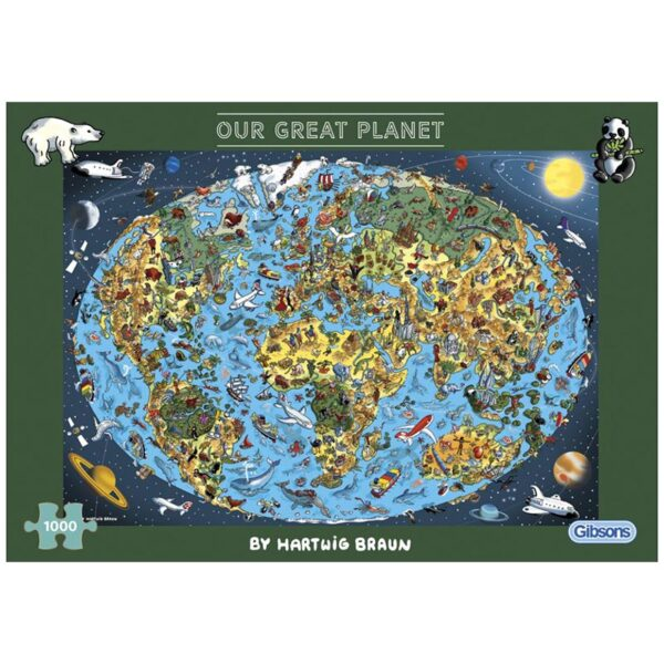Gibsons Our Great Planet 1000 Piece Jigsaw Puzzle