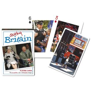 Gibsons Piatnik Quirky Britain Playing Cards