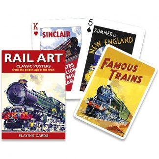 Gibsons Piatnik Rail Art Playing Cards