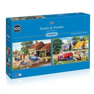 Gibsons Ponds & Pumps 2 x 500 Piece Jigsaws