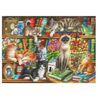 Gibsons Puss In Books 1000pc Jigsaw Puzzle