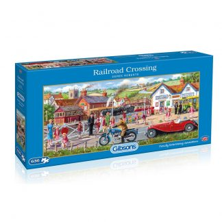 Gibsons Railroad Crossing 636 Piece Jigsaw