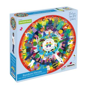 Gibsons Rainbow Heroes Circular 500pc Jigsaw Puzzle Box