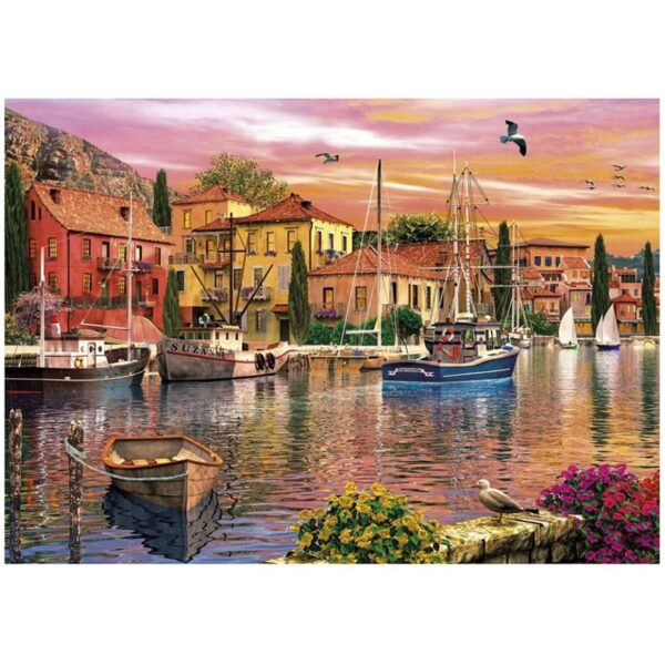 Gibsons Sails At Sunset 2 x 500 Piece Jigsaw Puzzle 2