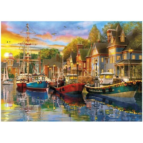 Gibsons Sails At Sunset 2 x 500 Piece Jigsaw Puzzle