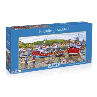Gibsons Seagulls At Staithes 636 Piece Jigsaw