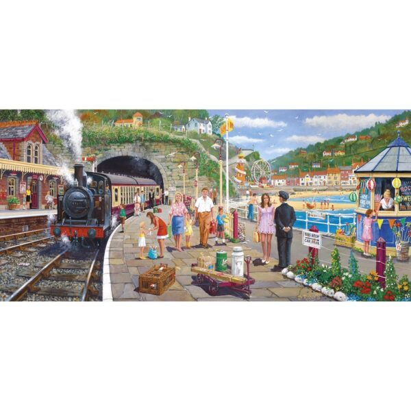 Gibsons Seaside Train 636 Piece Jigsaw