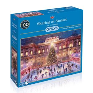 Gibsons Skating At Sunset 1000 Piece Jigsaw