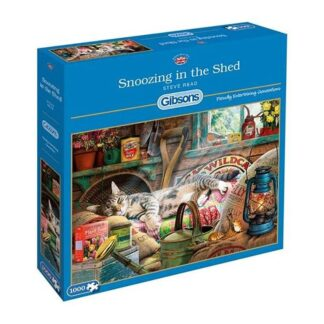 Gibsons Snoozing In The Shed 1000 Piece Jigsaw Puzzle Box