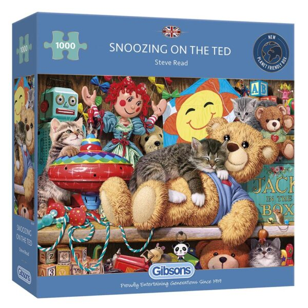Gibsons Snoozing on the Ted 1000 Piece Jigsaw