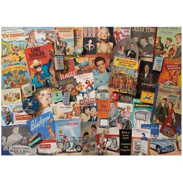 Gibsons Spirit of the 50's 1000pc Jigsaw Puzzle image