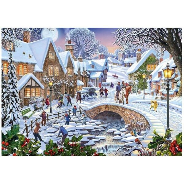 Gibsons Summer Days & Snowflakes 2 x 500 Piece Jigsaw Puzzles 1