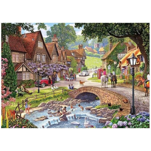 Gibsons Summer Days & Snowflakes 2 x 500 Piece Jigsaw Puzzles 2