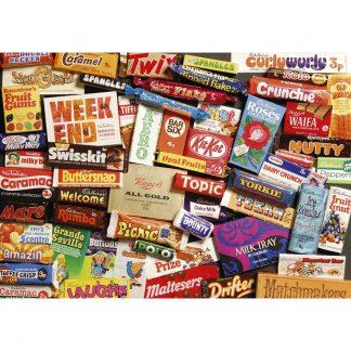 Gibsons Sweet Memories 1970s 500 Piece Jigsaw Gift Tin
