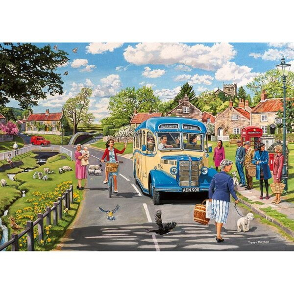Gibsons The Country Bus 4 X 500 pc Jigsaw Puzzle 1