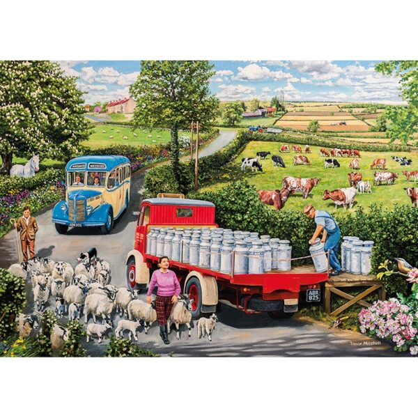 Gibsons The Country Bus 4 X 500 pc Jigsaw Puzzle 2