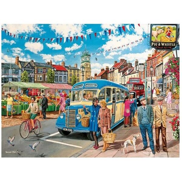 Gibsons The Country Bus 4 X 500 pc Jigsaw Puzzle 4