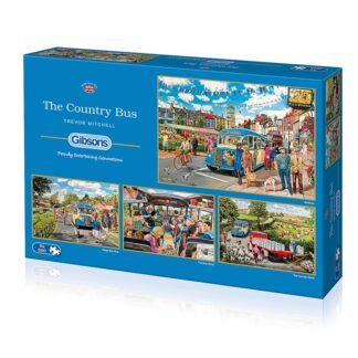 Gibsons The Country Bus 4 X 500 pc Jigsaw Puzzle Box