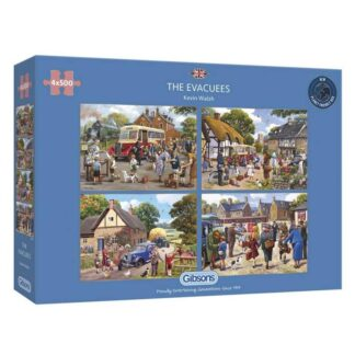 Gibsons The Evacuees 4 x 500pc Jigsaw Puzzle Box