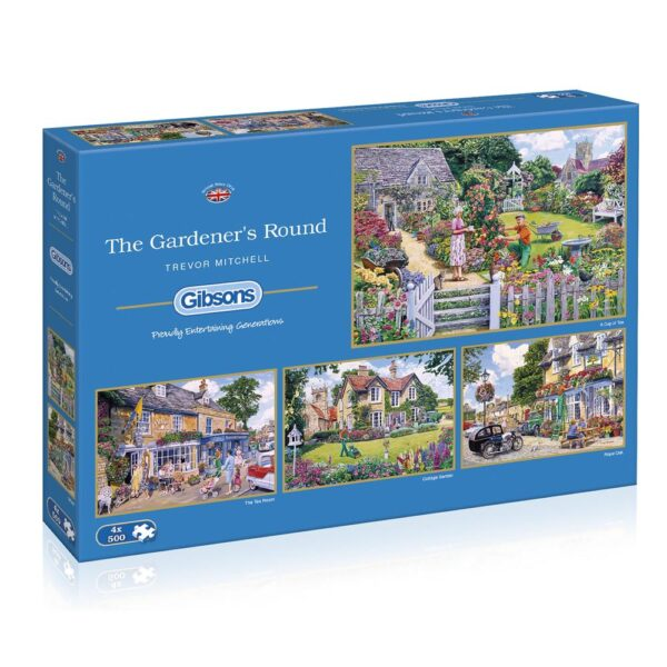 Gibsons The Gardener's Round 4 x 500 Piece Jigsaws
