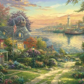 Gibsons Thomas Kinkade New England Harbour 1000 Piece Jigsaw