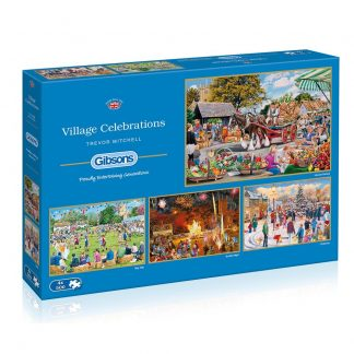 Gibsons Village Celebrations 4 x 500 Piece Jigsaws
