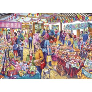 Gibsons Village Tombola 1000 Piece Jigsaw