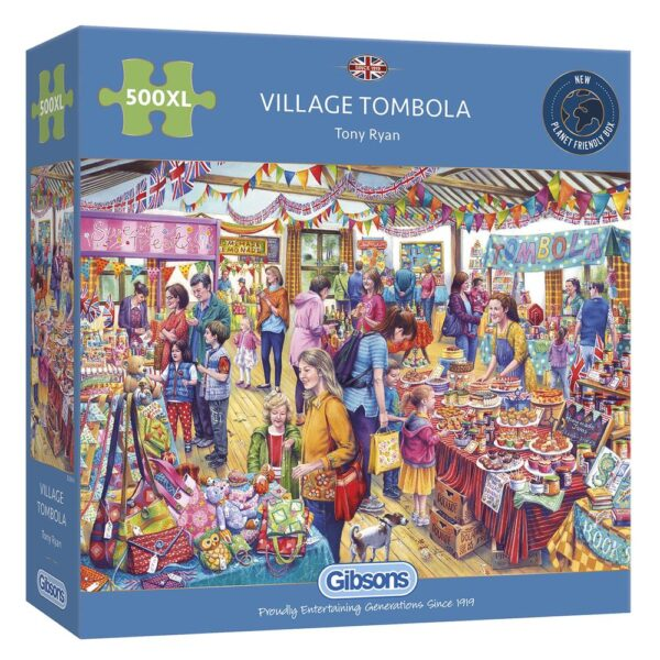 Gibsons Village Tombola 500 XL Piece Jigsaw