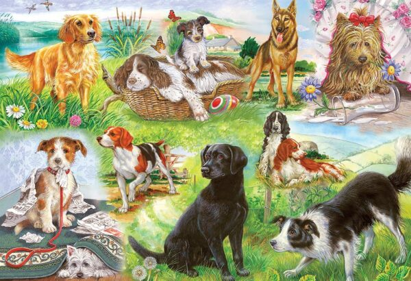 Gibsons Wagging Tails 500 Piece Jigsaw