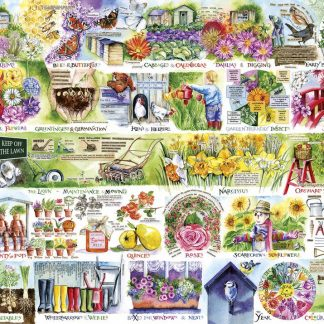 Gibsons Wheelbarrows & Wellies 1000 Piece Jigsaw