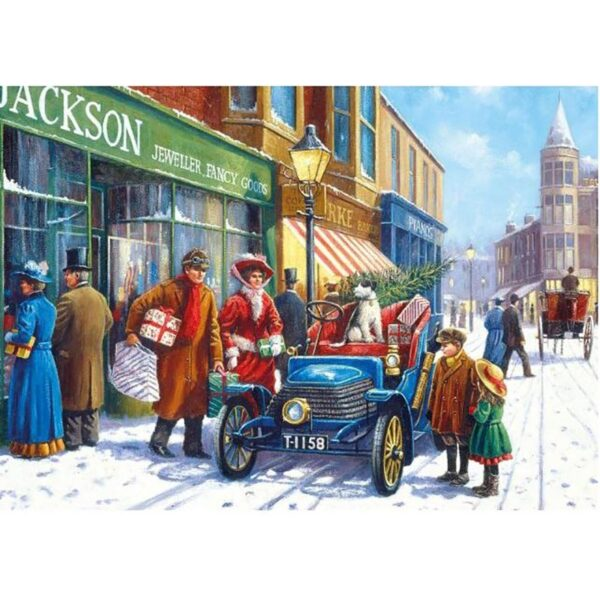 Gibsons Winter About Town 4 x 500 Piece Jigsaw Puzzles 1