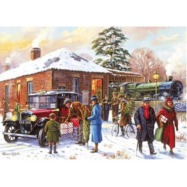 Gibsons Winter About Town 4 x 500 Piece Jigsaw Puzzles 4