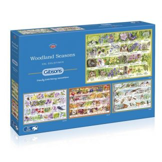 Gibsons Woodland Seasons 4 x 500 Piece Jigsaw