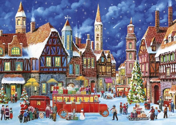 Gibsons Yuletide Deliveries 2 x 500 Piece Jigsaws