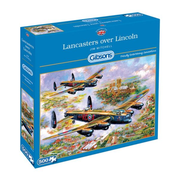 Gibsons Lancasters Over Lincoln 500 Piece Jigsaws