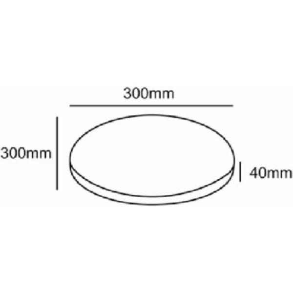 Glencrest CC Collection Round Bistro Pad dimensions