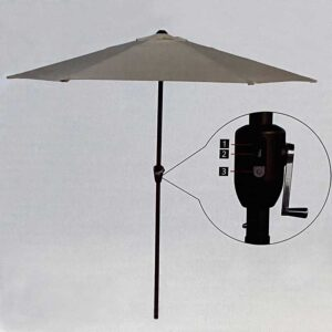 Glencrest Sturdi 2.7m Round LED Solar Parasol in Taupe
