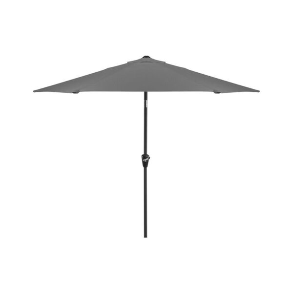 Glencrest Sturdi Plus Aluminium Round Crank and Tilt 3m Parasol in Grey