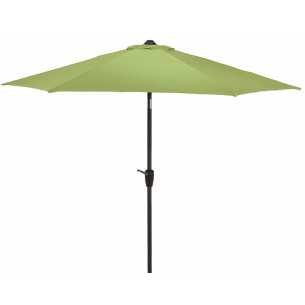 Glencrest Sturdi Plus Aluminium Round Crank and Tilt 3m Parasol in Lime