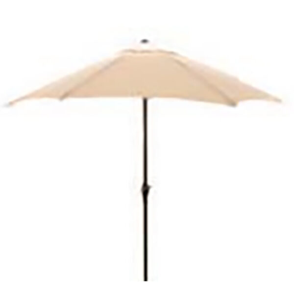 Glencrest Sturdi Plus Aluminium Round Crank and Tilt 3m Parasol in Natural