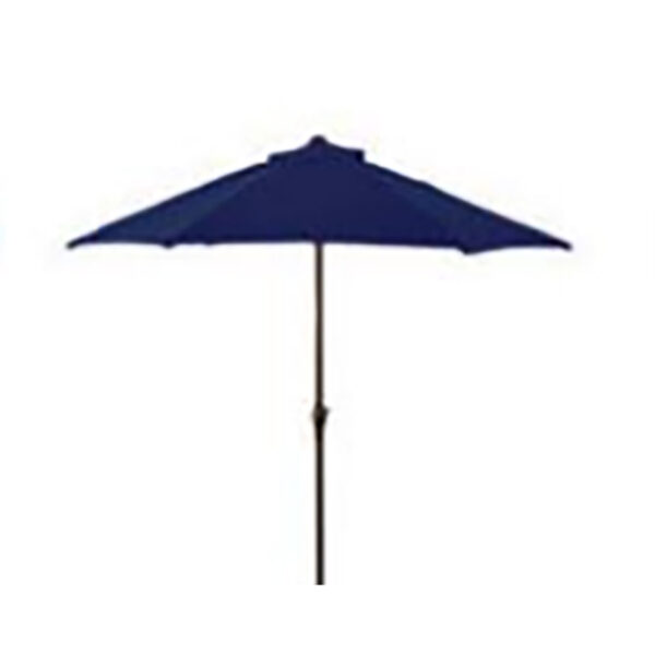 Glencrest Sturdi Plus Aluminium Round Crank and Tilt 3m Parasol in Navy Blue