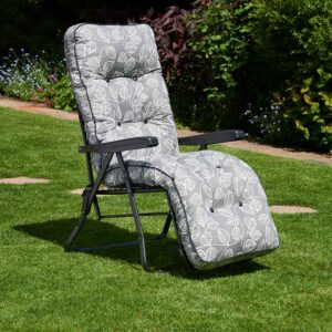 Glendale Deluxe Garden Relaxer in Aspen Grey Leaf