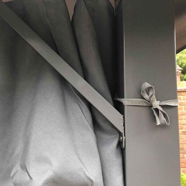 Glendale Highfield Heavy Duty Garden Gazebo in Grey Corner Detail