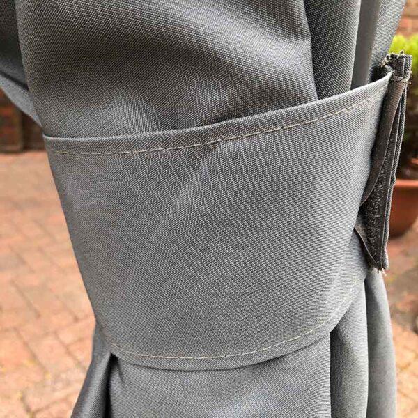 Glendale Highfield Heavy Duty Garden Gazebo in Grey Curtain Detail