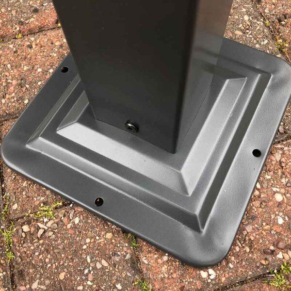 Glendale Highfield Heavy Duty Garden Gazebo in Grey Foot Detail