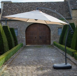 Gloucester 3m round side post parasol