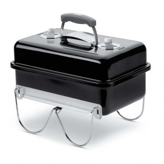 Weber Go-Anywhere Portable Charcoal Grill Barbecue (Black)